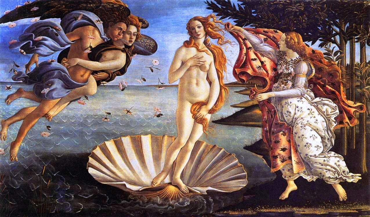Mythology - Painting - Birth of Venus
