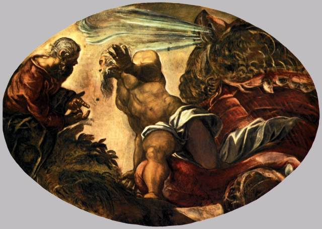 Jonah leaves the Whale Tintoretto