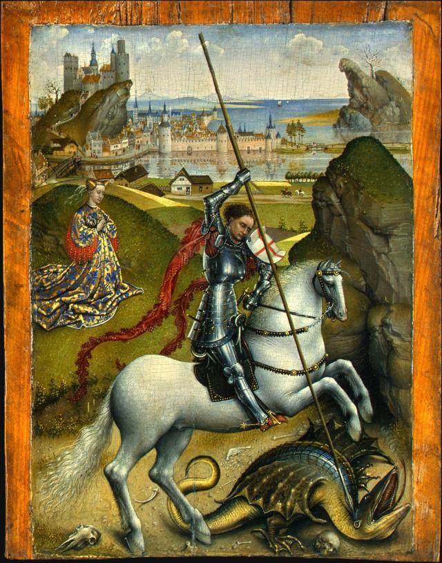 Rogier-van-der-Weyden-Saint-George-and-the-Dragon
